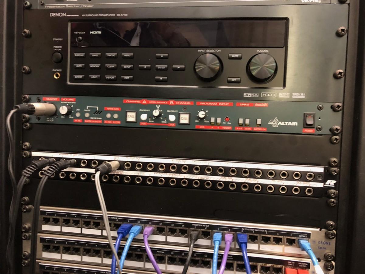 Audio Visual Equipment Rack